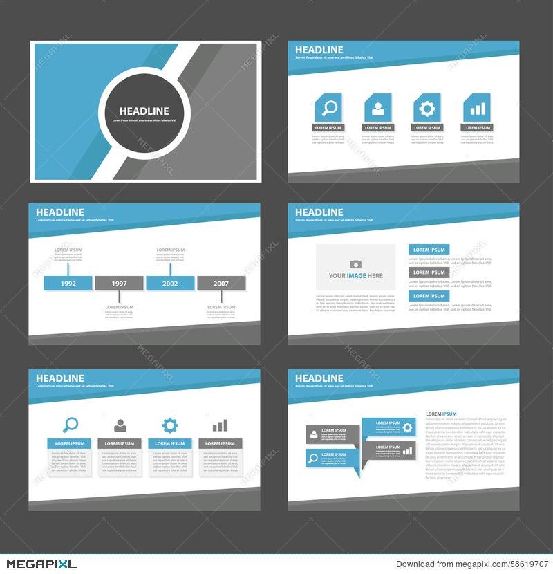 Blue And Grey Multipurpose Infographic Presentation Brochure Flyer ...