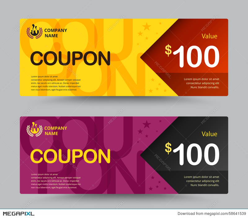 gift voucher card template design for special time coupon temp