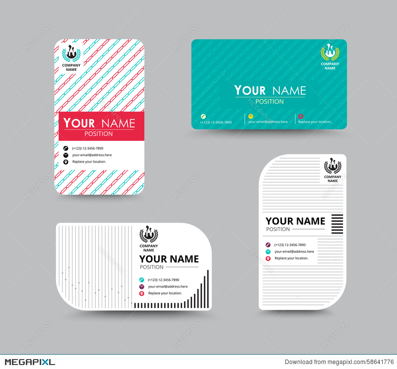Business Name Card Design For Corporation Card Template Vector - Business name card template