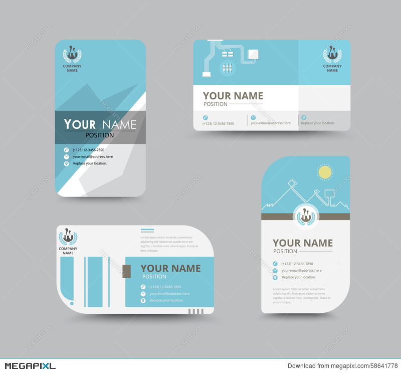 Business name card design for corporation card template vector business name card design for corporation card template vector accmission
