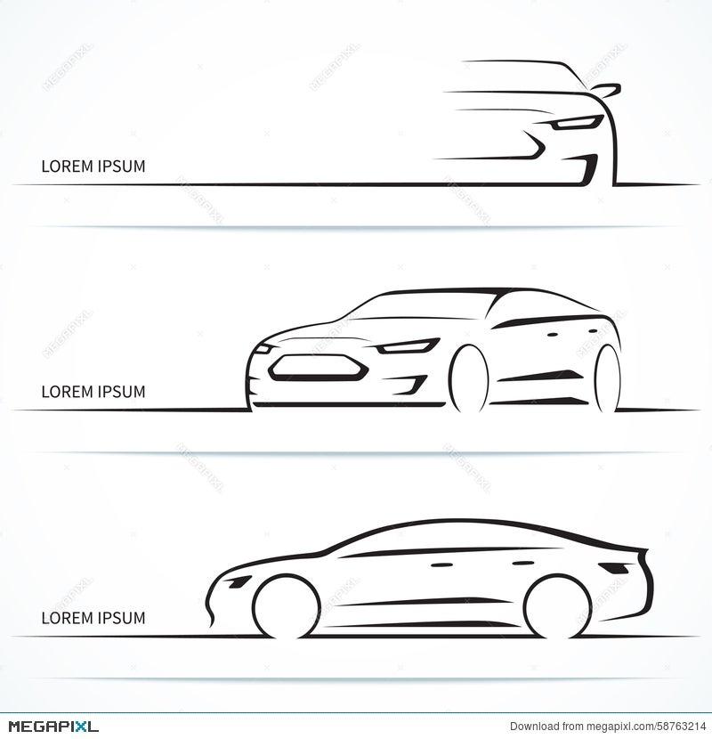 Set Of Luxury Car Silhouettes Vector Illustration Illustration