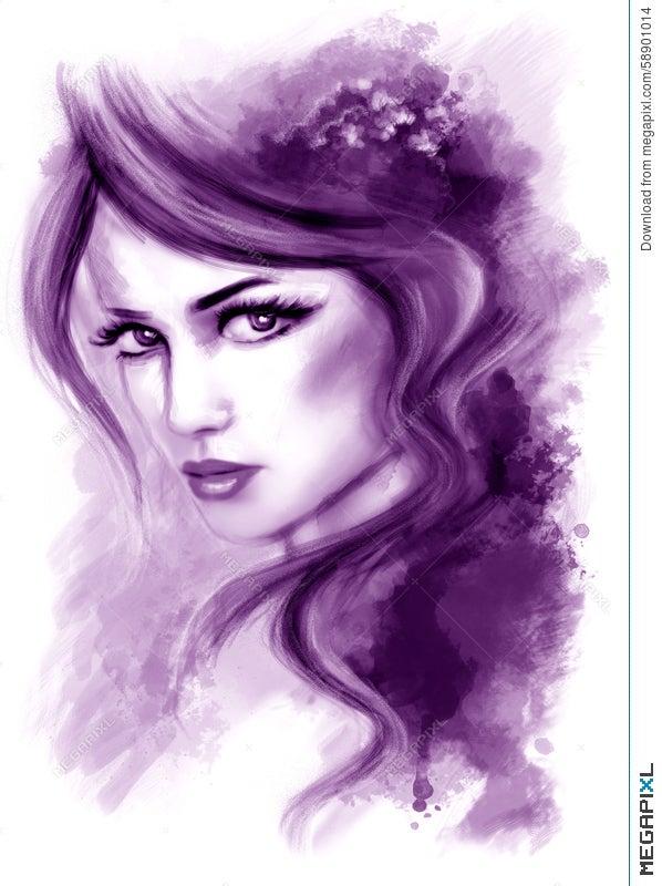 b61dc3309f Woman Fantasy Beautiful Portrait .abstract Illustration Illustration ...