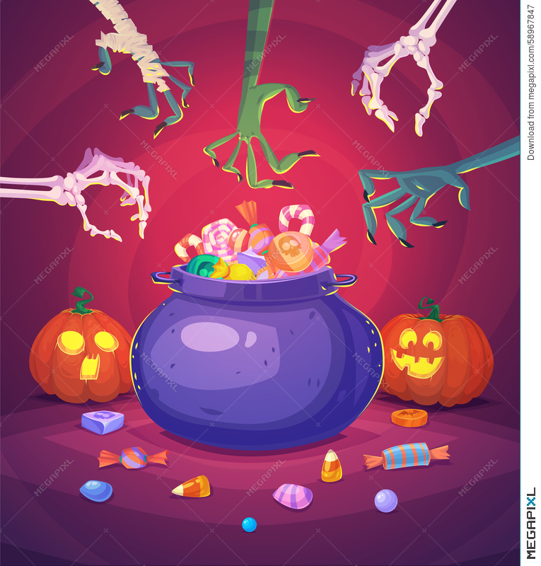 Halloween Poster Background Free.Halloween Poster Background Card Vector Illustration