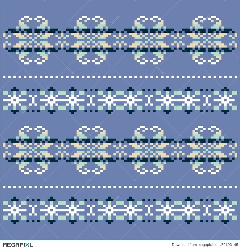Winter Knitted Blue White Snowflake Pattern Christmas Sweater