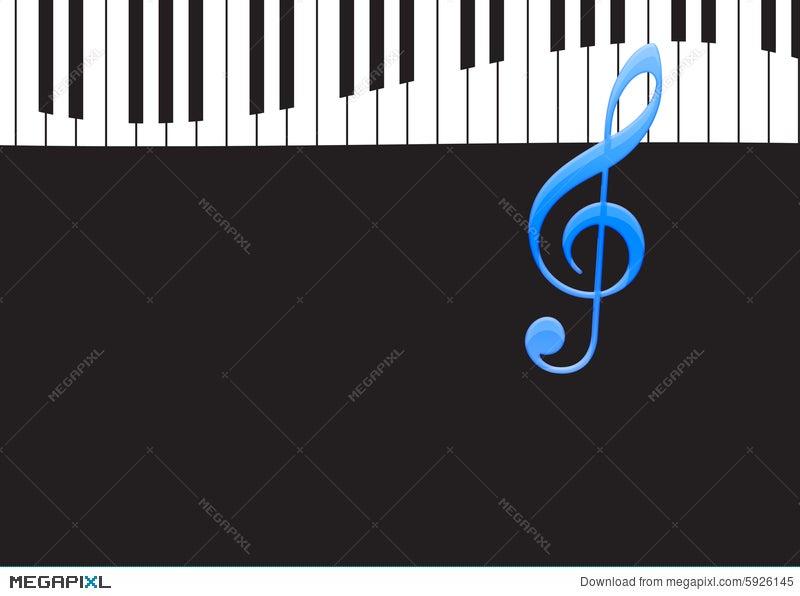 Music Note And Wavy Piano Keyboard Illustration 5926145 Megapixl