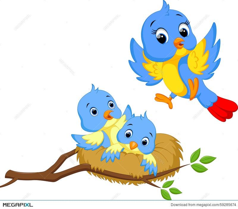 Cute Bird Cartoon Illustration 59285674 Megapixl