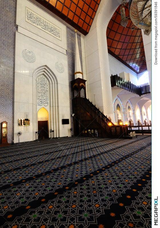 Interior Of Sultan Salahuddin Abdul Aziz Shah Mosque A K A Shah Alam Mosque Stock Photo 59391846 Megapixl