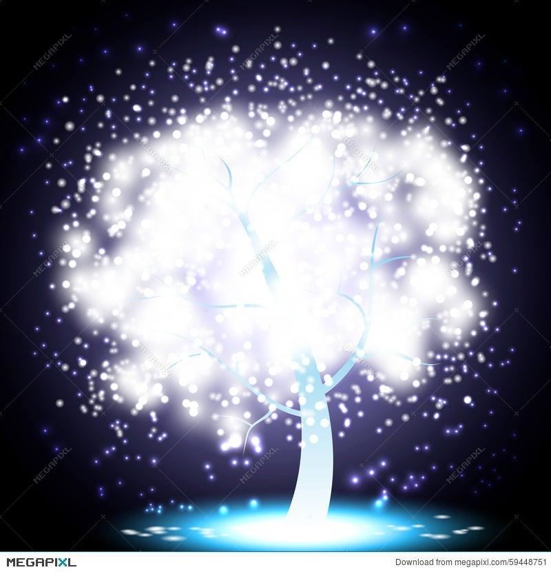 Magical Christmas Tree Illustration 59448751 - Megapixl