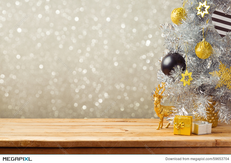Christmas Holiday Background.Christmas Holiday Background With Christmas Tree And