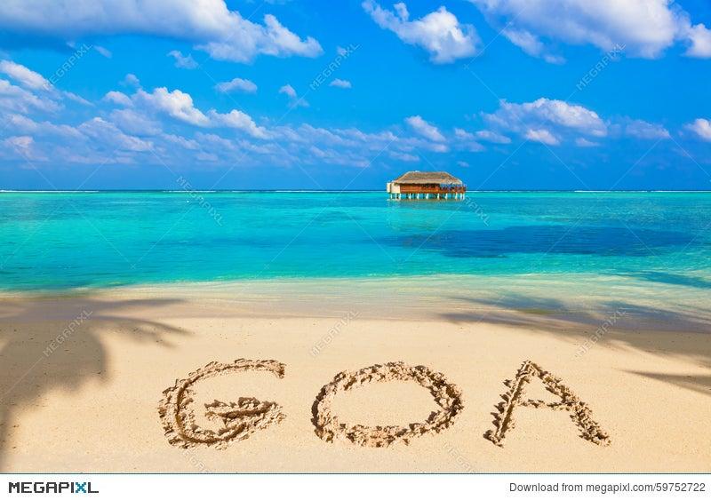 Word Goa On Beach Stock Photo 59752722 Megapixl