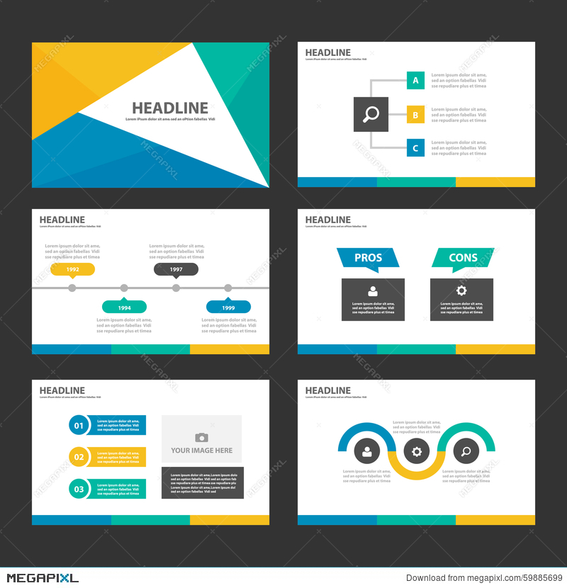 Yellow green blue infographic elements icon presentation template yellow green blue infographic elements icon presentation template flat design set for advertising marketing brochure flyer toneelgroepblik Gallery