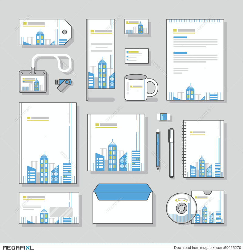 Building corporate identity template stationery design set and building corporate identity template stationery design set and business stationery wajeb Image collections