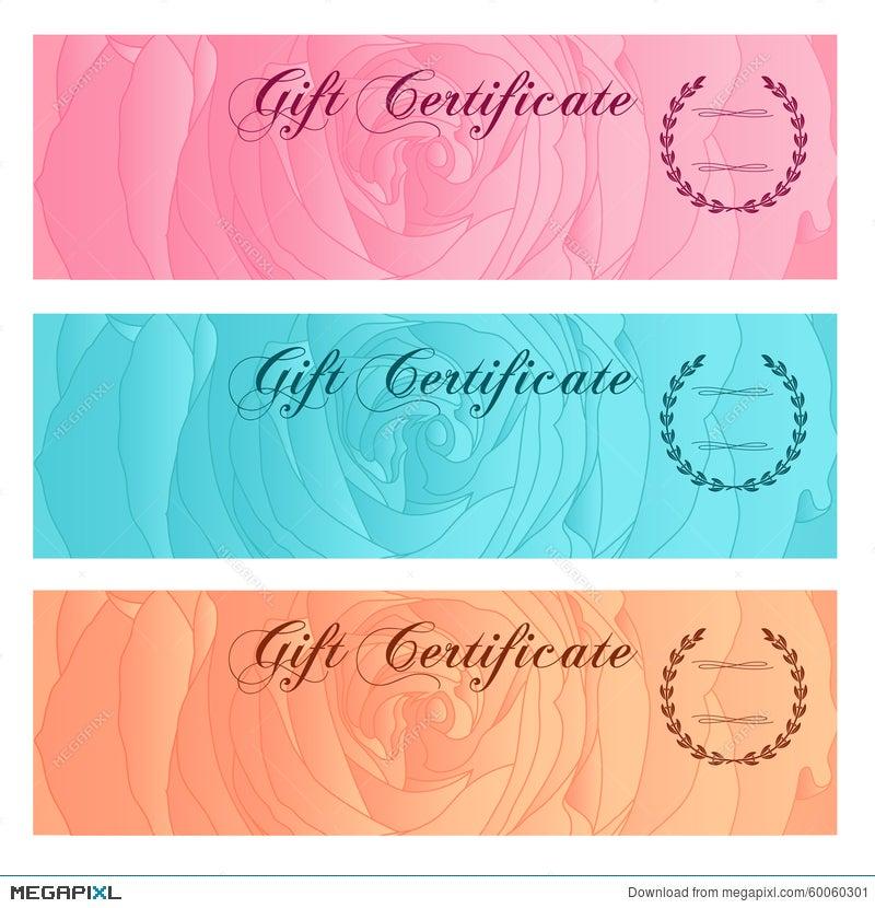 Gift Certificate Voucher Coupon Reward Gift Card Set Template