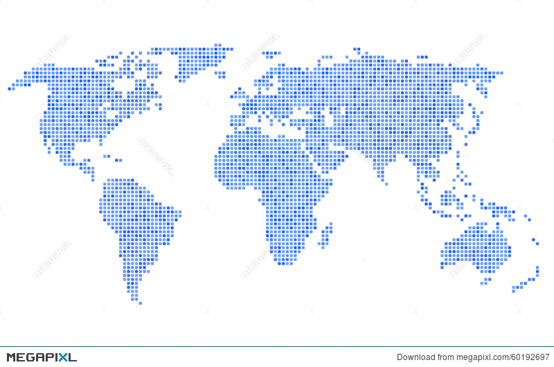 Dotted blue world map on white background vector illustration dotted blue world map on white background vector gumiabroncs Choice Image