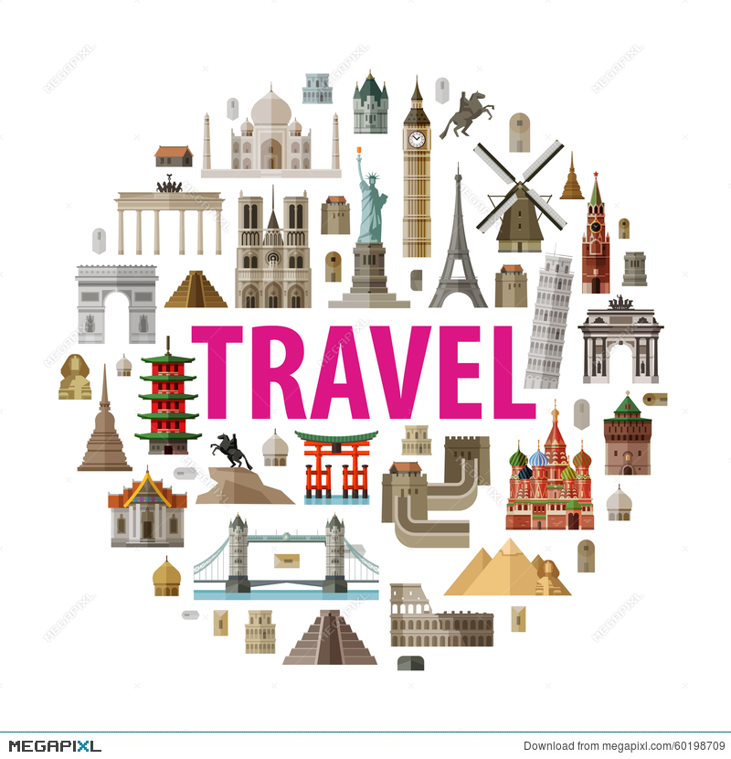 Travel Vector Logo Design Template World Or
