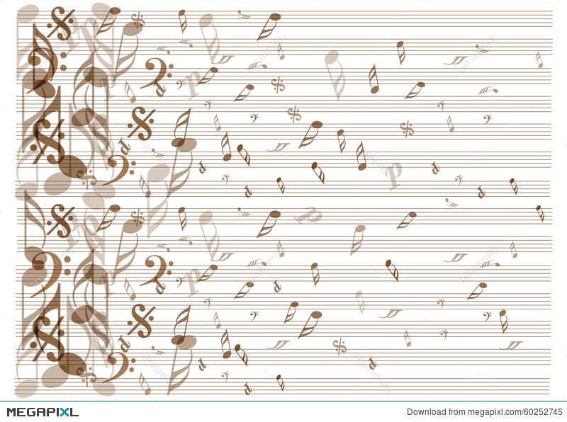 Vintage music notes background illustration 60252745 megapixl vintage music notes background voltagebd Image collections