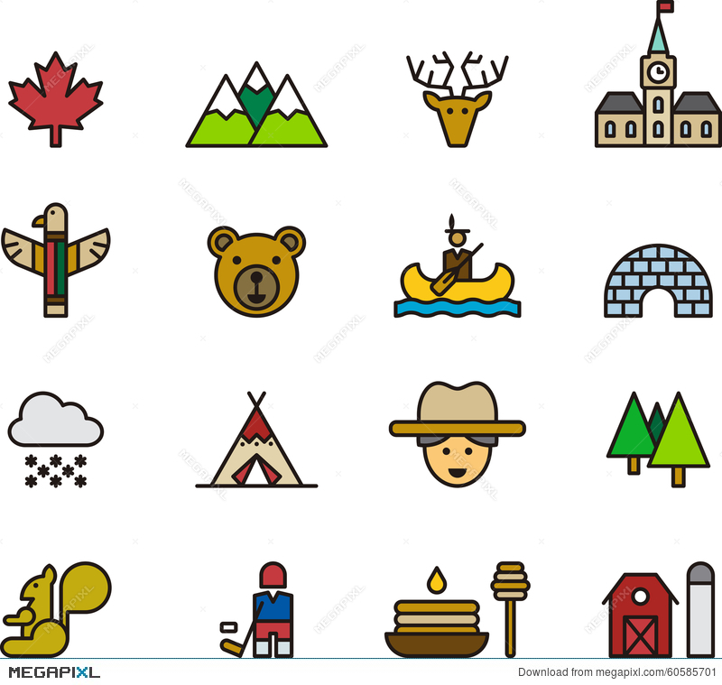 Icons And Symbols Of Canada Stock Photo 60585701 Megapixl