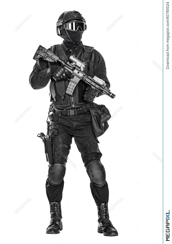Police Officer Swat Stock Photo 60780024 - Megapixl