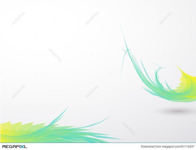 green bending line on white clean color backround illustration