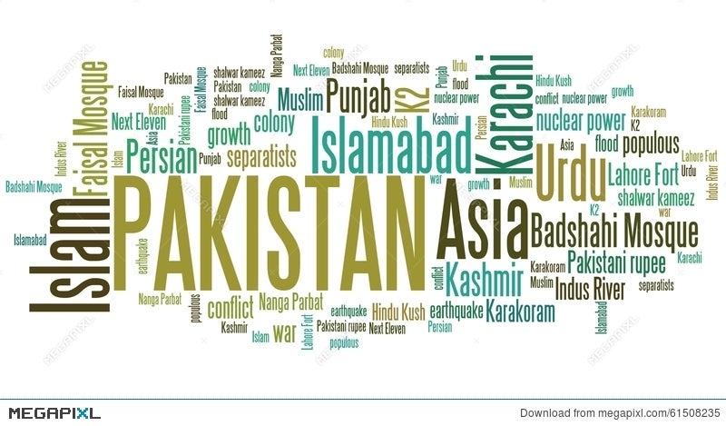 Pakistan Word Cloud Illustration 61508235 - Megapixl