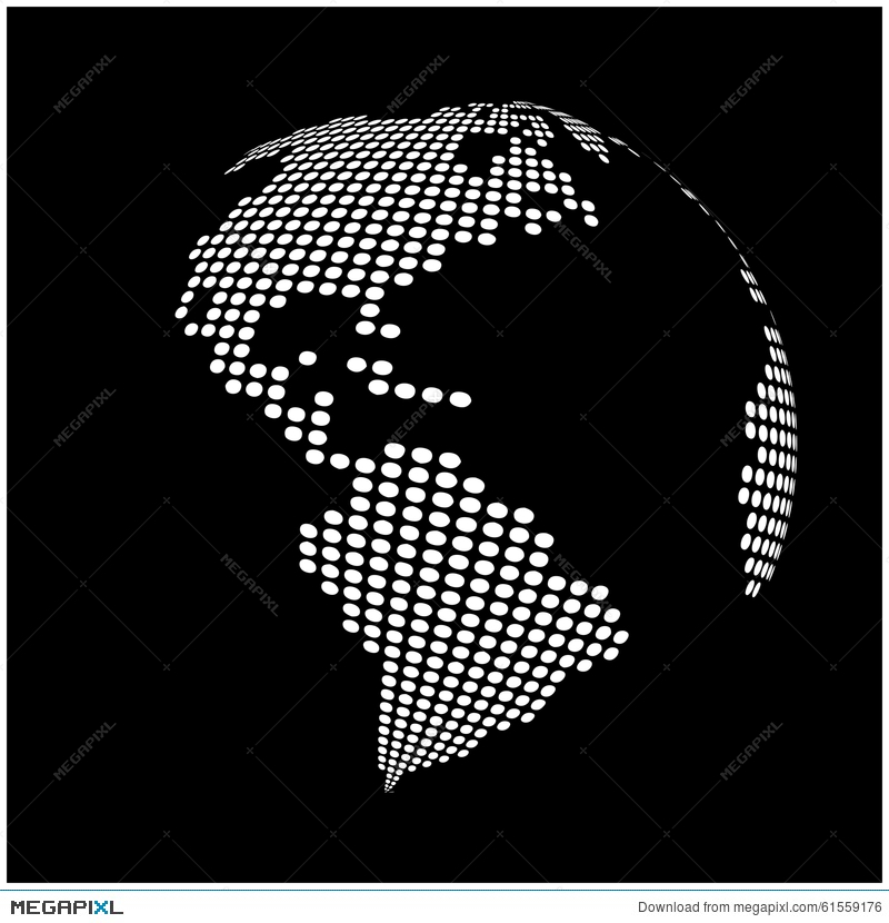 Globe earth world map abstract dotted vector background globe earth world map abstract dotted vector background gumiabroncs Gallery
