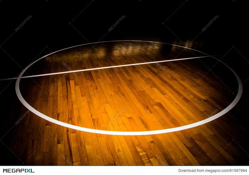 Wooden Floor Basketball Court Stock Photo 61587994 Megapixl