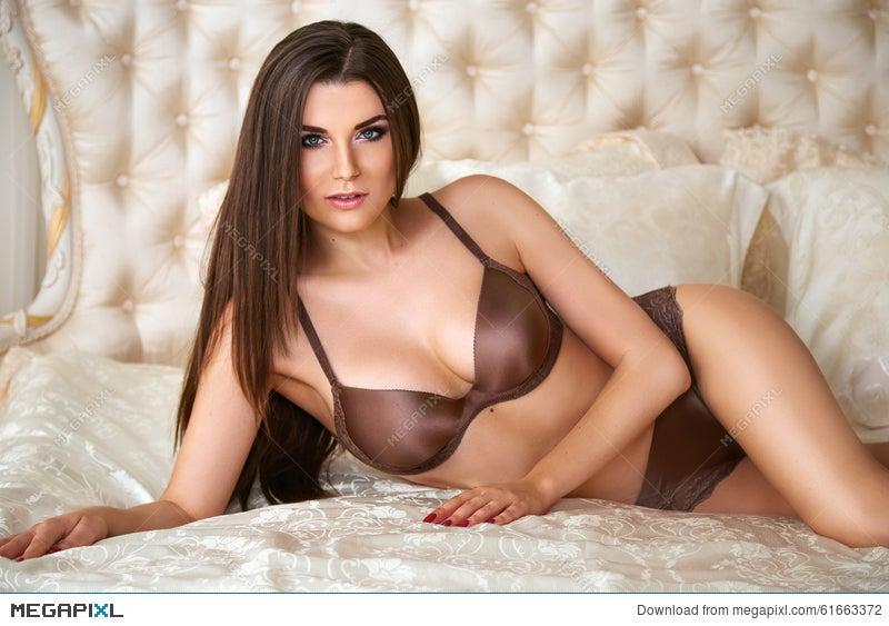 Beautiful Woman Underwear Body Lingerie Makeup Cosmetic