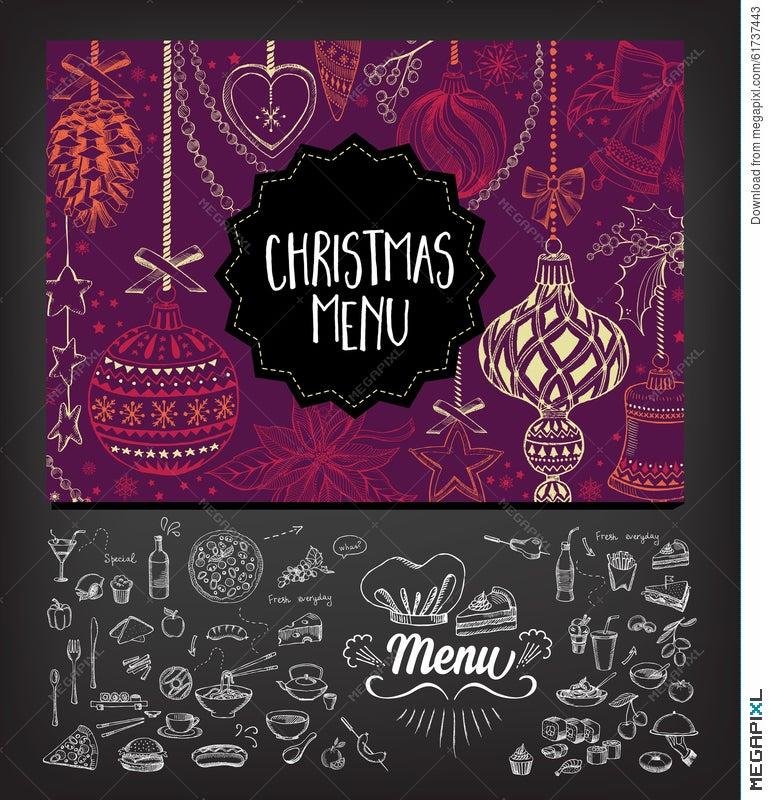Christmas party invitation restaurant food flyer illustration christmas party invitation restaurant food flyer stopboris Images