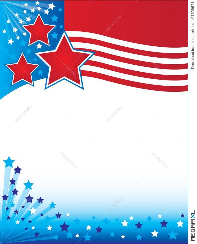 patriotic flyers background illustration 61820671 megapixl