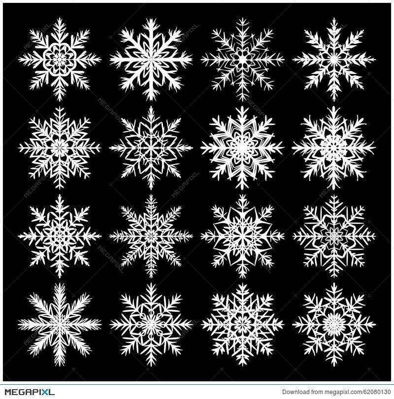 Snowflake Silhouette Icon Symbol Design Winter Christmas Vector