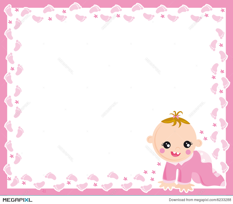 Baby Girl Frame Illustration 6233288 - Megapixl