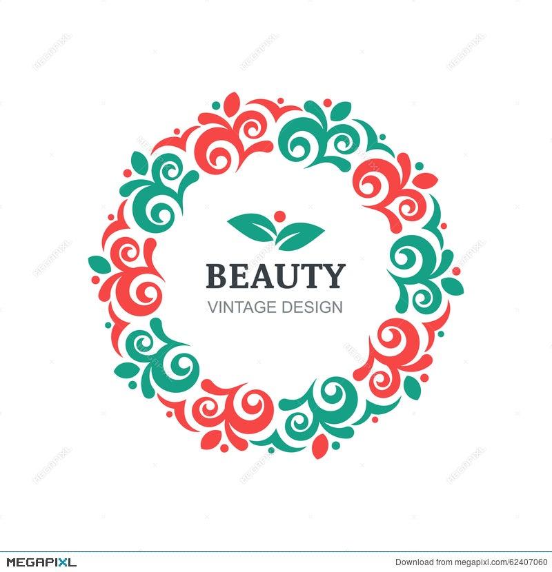 Vector Beauty Salon Logo Design Template
