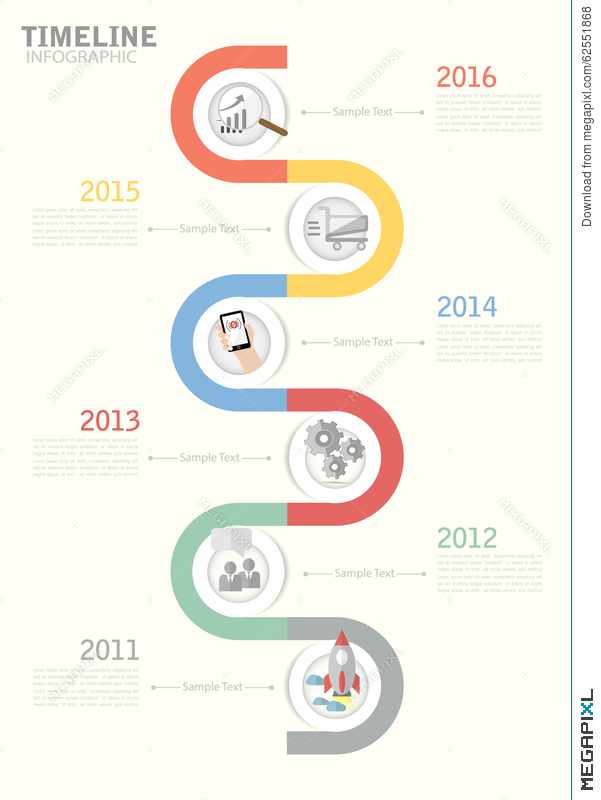 Timeline Template For Business Design Reports Step Presentation - Business timeline template