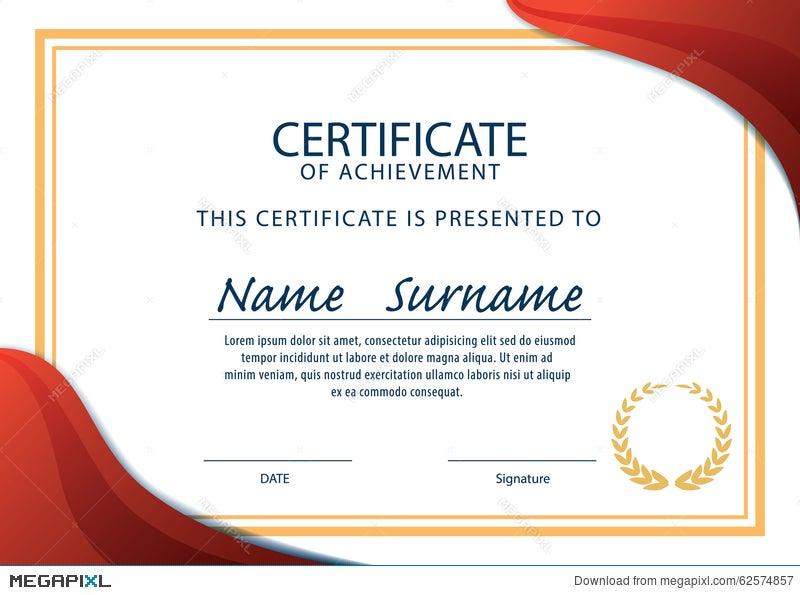 Certificate Templatediplomaa4 Size Vector Illustration 62574857