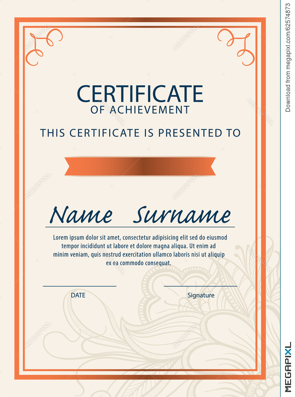 Certificate templatediplomaa4 size vector illustration 62574873 certificate templatediplomaa4 size vector yadclub Image collections