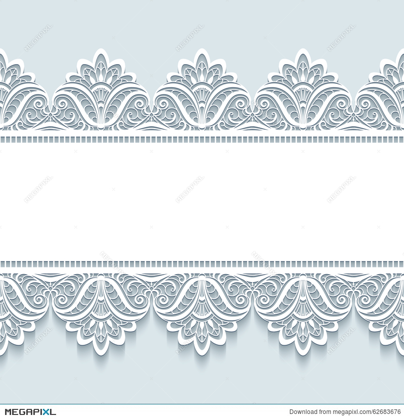 9e8cb6984c Vintage Lace Background With Seamless Borders Illustration 62683676 ...