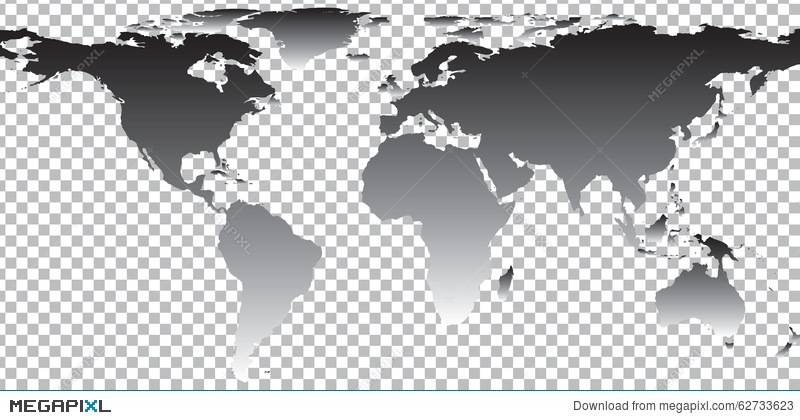Black map of world on transparent background illustration 62733623 black map of world on transparent background gumiabroncs Gallery
