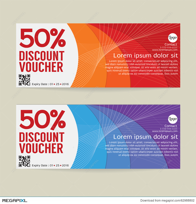 Good 50% Discount Voucher Modern Template Design. And Free Discount Vouchers