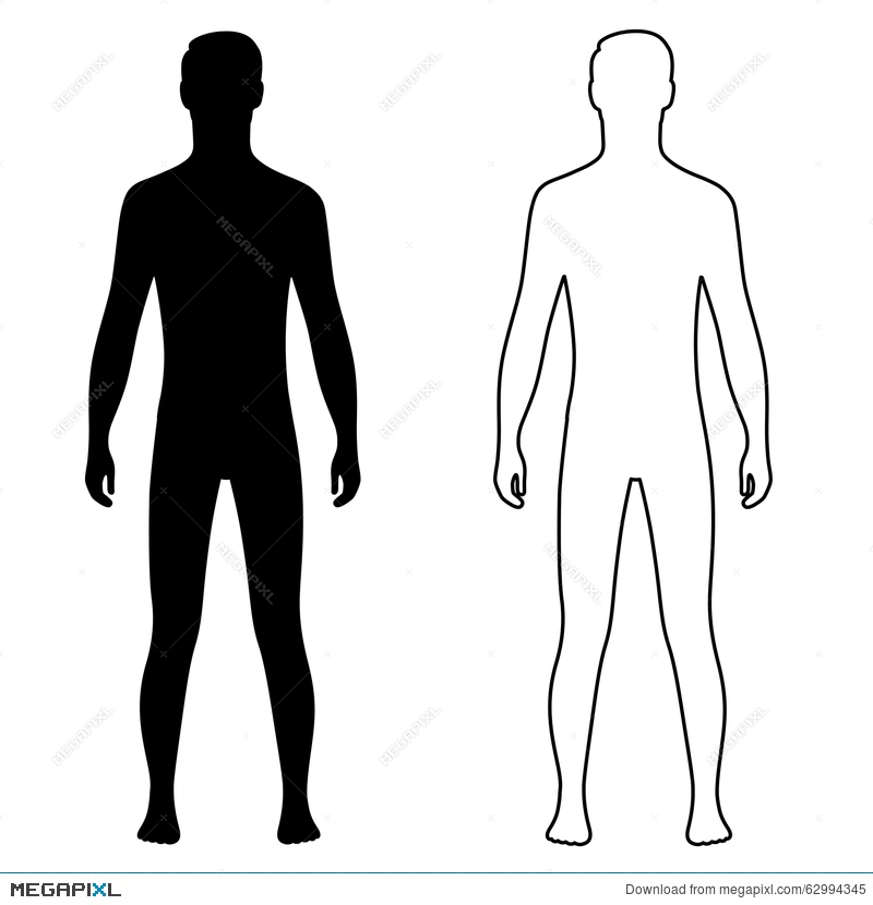 fashion man couple outlined template figure silhouette