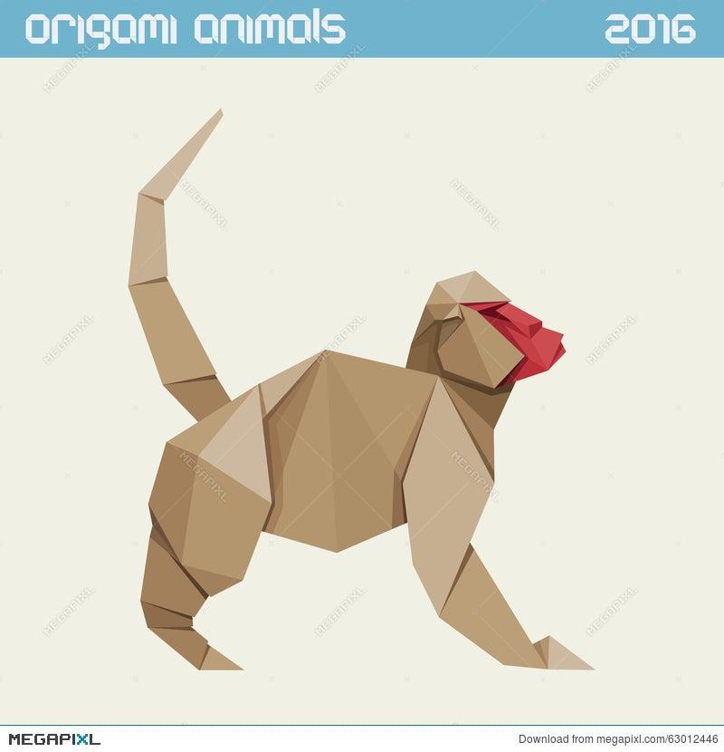 Origami Monkey | Designed and folded by Mindaugas Cesnaviciu… | Mindaugas  Cesnavicius | Flickr | 830x800