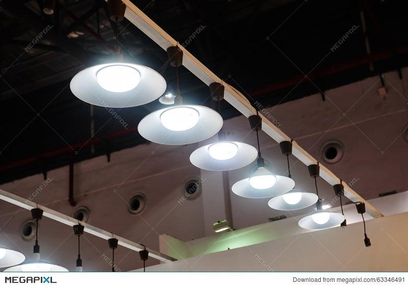 huge selection of b05bf 4ba6c Led Hanging Lighting In Office Stock Photo 63346491 - Megapixl