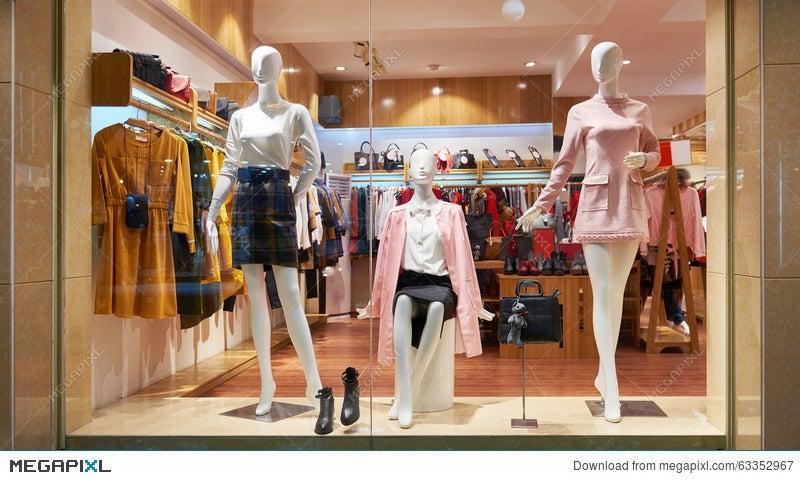 1993eb5668e Fashion Shop Window Clothing Store Front Stock Photo 63352967 - Megapixl
