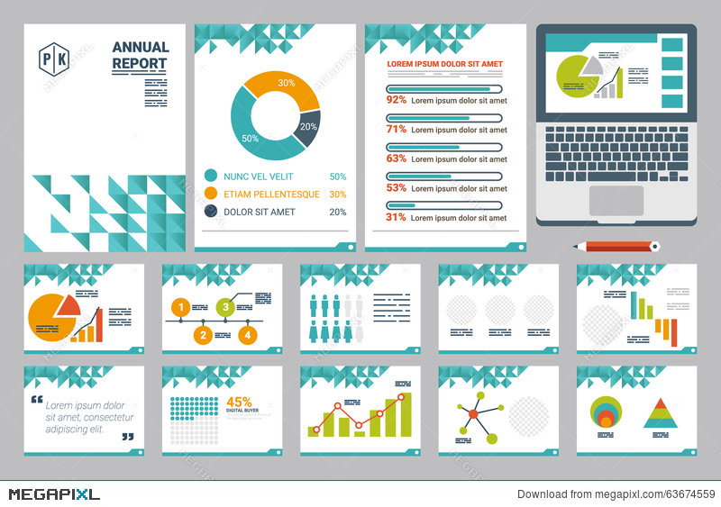 annual report cover a4 sheet and presentation template, Presentation templates