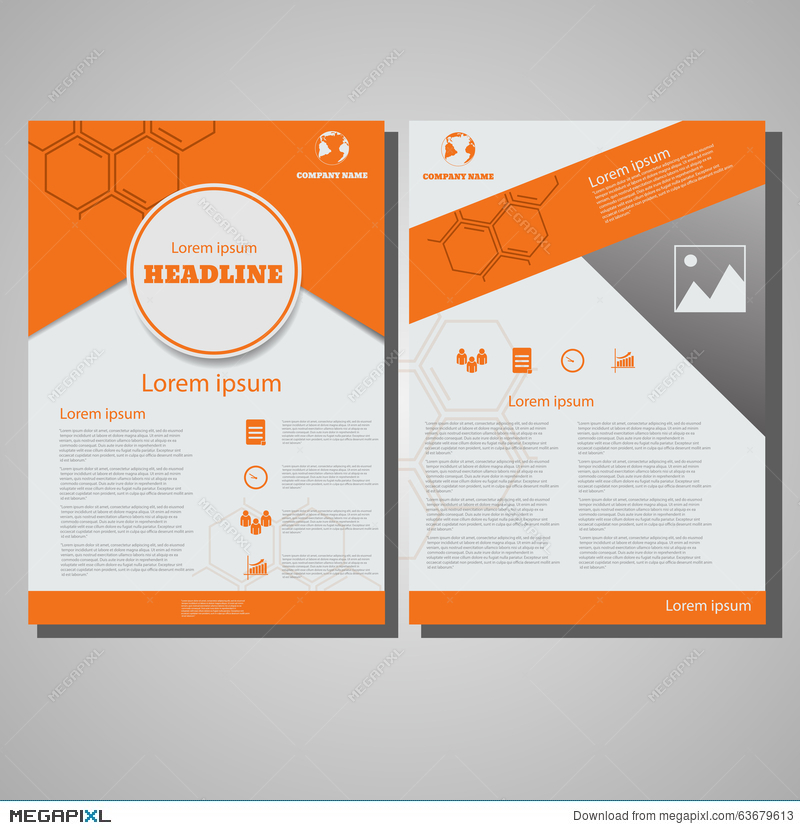 Orange Colour Brochure Flyer Design Layout Template Size A4