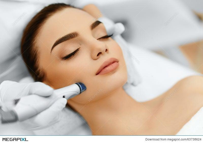 Face Skin Care Facial Hydro Microdermabrasion Peeling Treatment Stock Photo 63738624 Megapixl