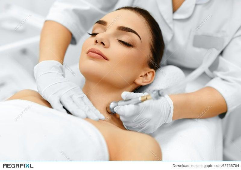 Face Skin Care Diamond Microdermabrasion Peeling Treatment Beauty Spa Cosmetology Stock Photo 63738704 Megapixl