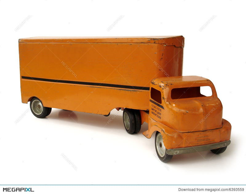 Antique Toy Moving Truck Stock Photo