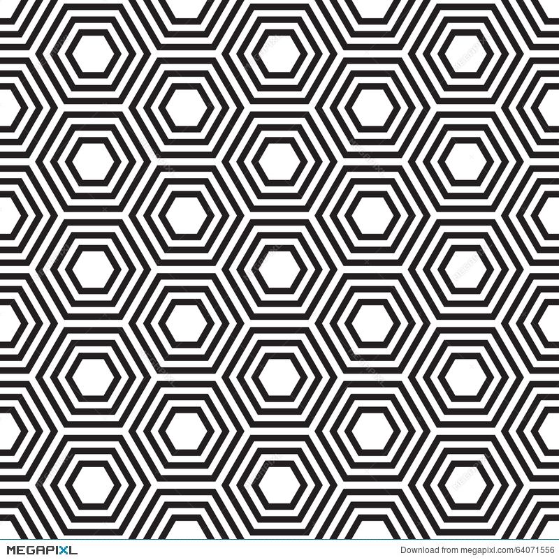Geometric Seamless Pattern Turtle Shell Pattern Illustration 64071556 Megapixl