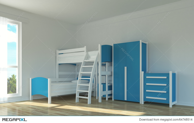 Empty Kids Room Illustration 64748514