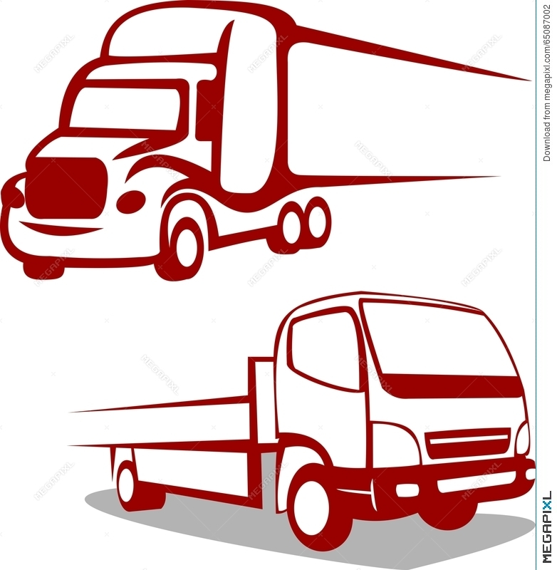 abstract truck logo illustration 65087002 megapixl rh megapixl com truck logo quiz truck logos for business